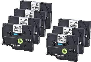 7pcs Label Printer Laminated Label Tape Black Compatible for Brother12mm PT-9500 X 8m