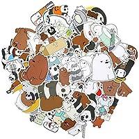 EKKONG Paquete de Pegatinas 100PCS, Pegatinas Tumblr VSCO Sticker PVC Vinals para Coche, Bicicleta, Moto, Equipaje, Portátil, Dormitorio, Funda de Viaje, Impermeable (Bare Bear)