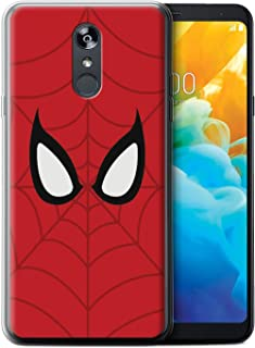 eSwish Gel TPU Phone Case/Cover for LG Stylo 4/4+/Q Stylo 4 / Spider-Man Mask Inspired Design/Super Hero Comic Art Collection