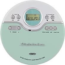 Studebaker SB3703MW Retro Joggable AM/FM CD Player - Mint and White