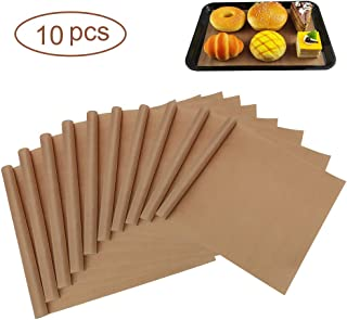Half Sheet Pan Liners, 12x16 Inches, Reusable Baking Parchment Sheets, Nonstick Cookie Baking Mat, Teflon Baking Sheet for Half Sheet Baking Pan, Washable & Eco-friendly (10 Pieces)