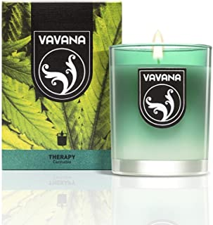 Vavana Aromatherapy Candles | Premium Scented Candles | Each Candle Set is Crafted with Perfection - Candle Jars, Hand Poured with Non-Toxic Mineral Wax & Cotton Wick (Cannabis)