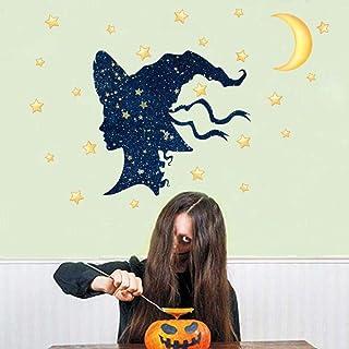 3D look wall decal Halloween fun wall stickers children's room decoration pvc graffiti moon stars window stickers