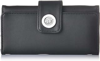 Fostelo Women's Vera Three Fold Wallet (Black)