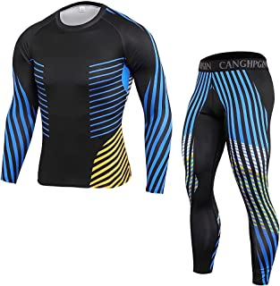 NIEWEI-YI Compression Quick-Dry Close-fitting Men's Sportswear Underwear Fitness Sports Suit 2-Piece Set