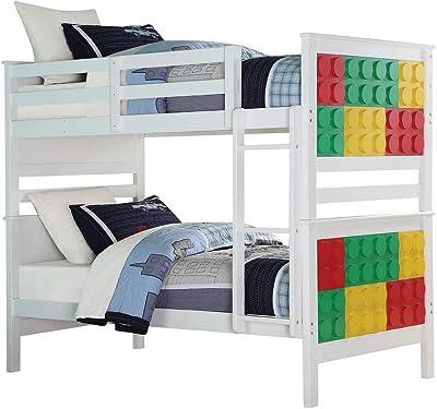 Acme Furniture Playground Bunk, White & Multi-Color