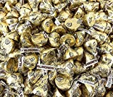 Sunny Island Hershey's Kisses Almond Milk Chocolate, Gold Foil Easter Candy, 2 Pounds Bag