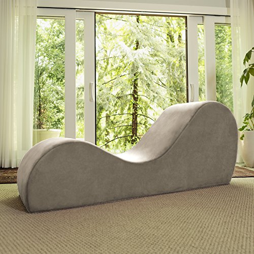 Avana Sleek Chaise Lounge for Yoga, Stretching, Relaxation, Beige