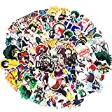 70 PCS CATTA My Hero Academia Anime Cartoon Laptop Stickers Waterproof Skateboard Pad MacBook Car Bicycle Luggage Decal