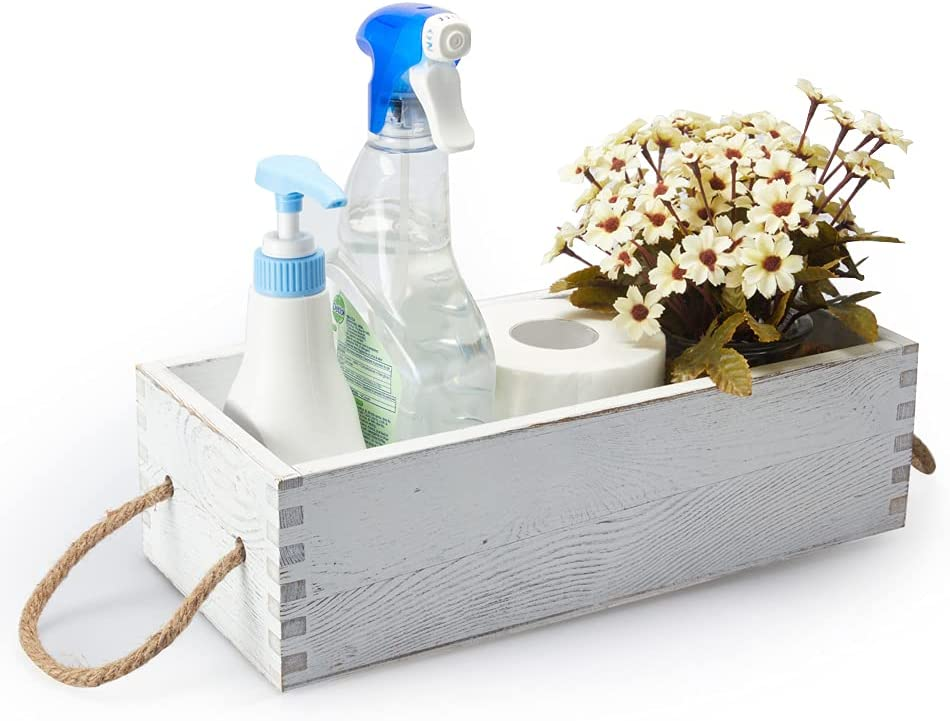 Bathroom Decor Box Wooden for New life Funny Directly managed store Toile Tray Tank Toilet