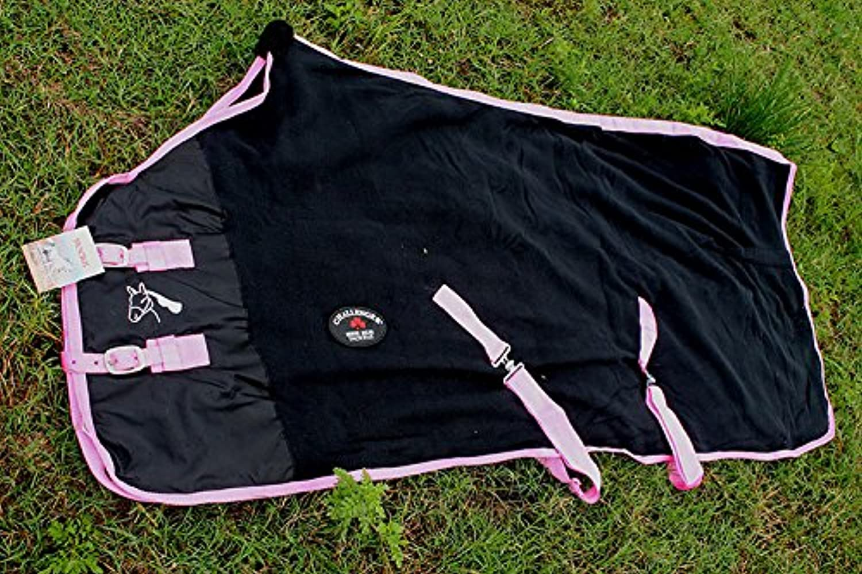 Challenger Horsewear 78  Horse Exercise Sheet Polar Fleece Cooler Blanket Wicks Moisture Zebra 4351