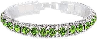 925 Sterling Silver Bracelets Full AAA Zircon Austrian Crystal Women Link Chain Jewelry Bangles