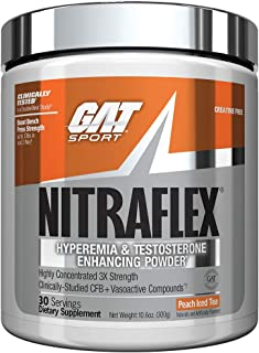 GAT Nitraflex Peach Iced Tea 10 6 oz 300 g