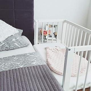 Fillikid Beistellbett - 2 in 1 Babybett - inkl. Matratze - 90 x 40 cm - Cocon Weiß weiß inkl. Matratze und Nestchen