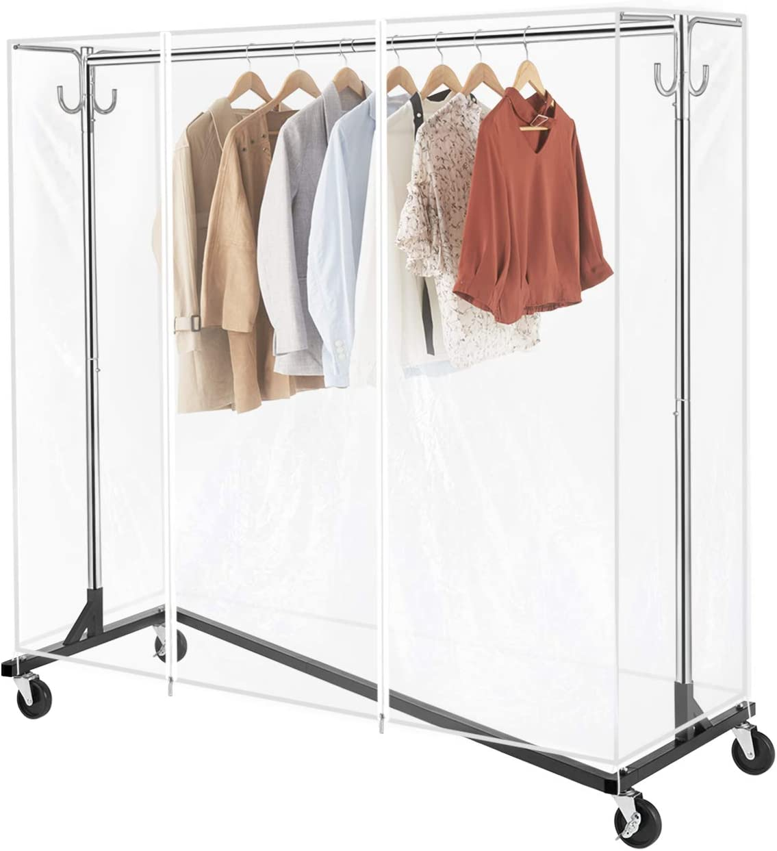 National products GREENSTELL Clothes Rack with Cover Award Pi Tube Industrial Bracket