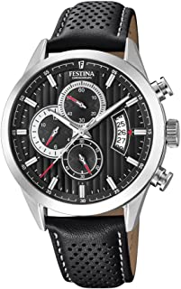 Festina F20271/6 For Men - Analog Casual Watch , Leather