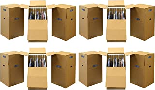 Bankers Box SmoothMove Wardrobe Moving Boxes, Tall, 24 x 24 x 40 inches, 3 Pack (7711001) (4 X 3 Pack))
