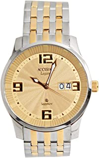Casual Watch for Men by Accurate, Multi Color, Round, AMQ1734T