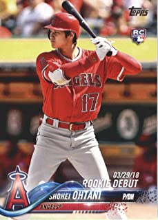 2018 Topps Update and Highlights Baseball Series #US285 Shohei Ohtani RC Rookie Los Angeles Angels Official MLB Trading Card