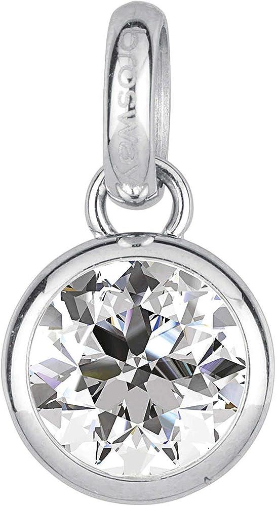 Brosway charm pendolo per donna in acciaio e cristalli swarovski. BTJM246