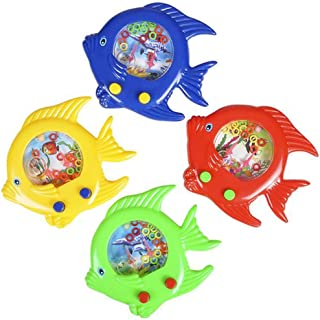ArtCreativity Fish Water Toy, Set of 4, Handheld Water Games for Kids, Goody Bag Fillers, Birthday Party Favors for Childr...