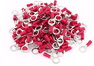 X-DREE 200 Pcs PVC Pre-Insulated Ring Crimp Electric Cable Terminals Connector Splice AWG 22-16 Red (7e8cca14-a222-11e9-8d...