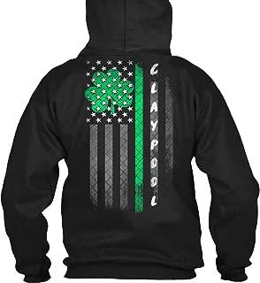 Claypool Lucky Family Clover Flag Sweatshirt - Gildan 8oz Heavy Blend Hoodie