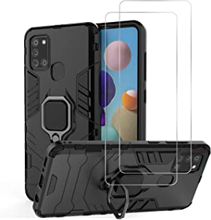 Urspasol for Samsung Galaxy A21S Case (Not Fit A21) with Screen Protector Tempered Glass Hybrid Heavy Duty Armor Protectiv...