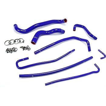 Pro Braking PBF8173-BLU-BLA Front Braided Brake Line Blue Hose /& Stainless Black Banjos