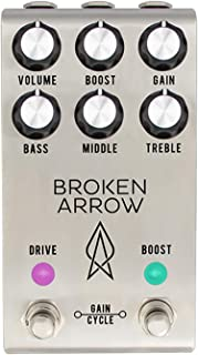 Jackson Audio Broken Arrow V2 Comprehensive Overdrive Guitar Effects Pedal, Silver (BROKENARROWV2)