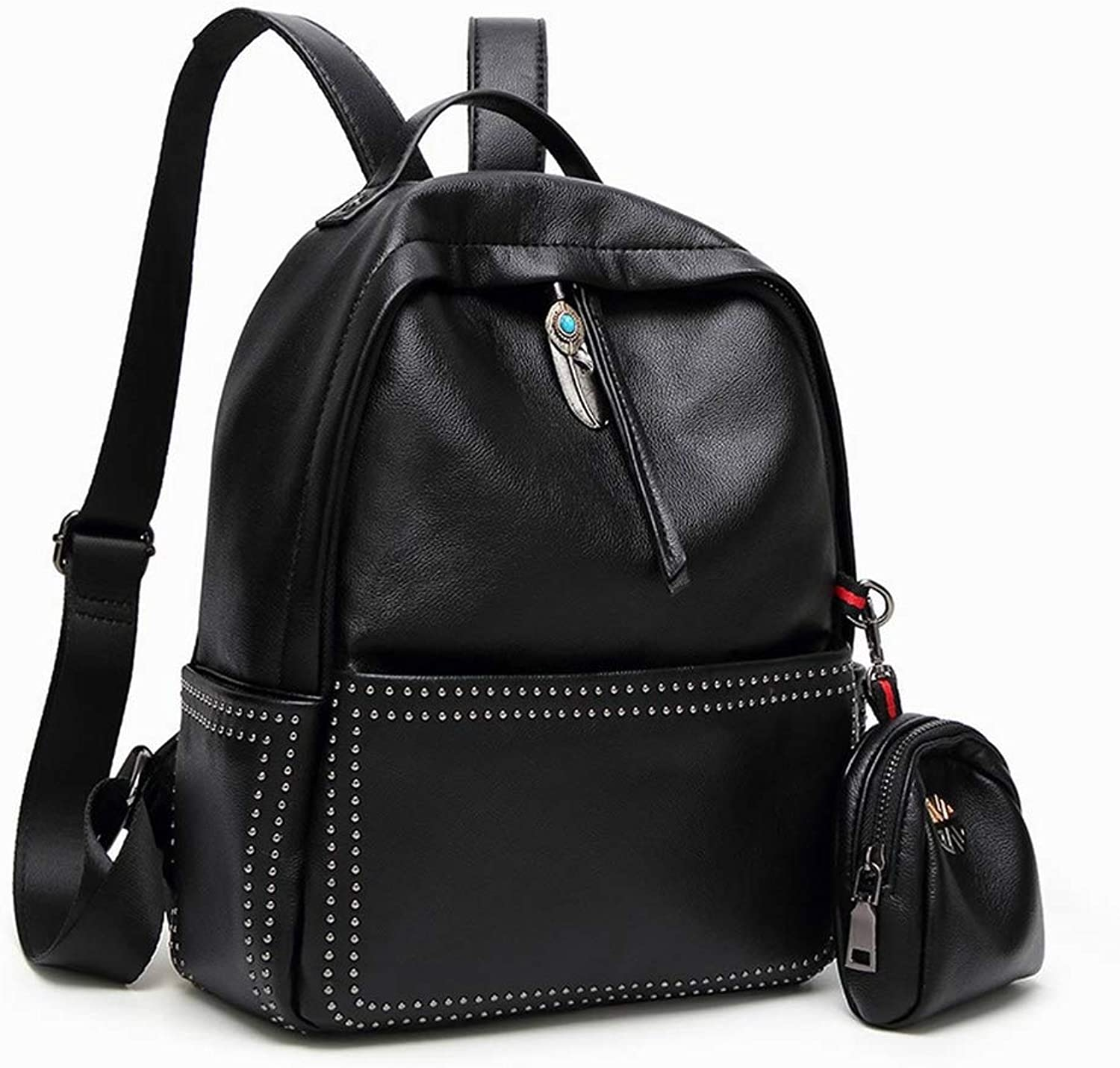 Creative Fashion Fashion MultiPurpose Backpack Women All Match Patent Leather Mirror Student Bag LargeCapacity Backpack Bag for Women, Black