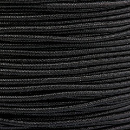 Kahage 5m Gummikordel - Hutgummi - Rundgummi, hochwertig, extra-stark in 3mm, schwarz