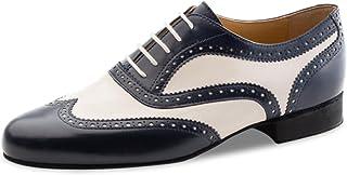 a3526a11a854 Nueva Epoca – Messieurs Tango/Salsa Chaussures de danse Lima – Cuir  Bleu/crème