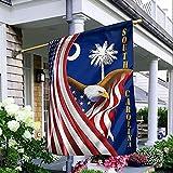 """South Carolina Eagle Flag Patriottic American Flag House Flag Garden Flag (House Flag 29.5""""x39.5"""")"""
