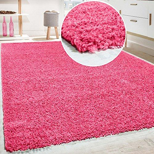 Shaggy - Tappeto A Pelo Lungo in Diversi Colori E Misure, Dimensione:120x170 cm, Colore:Rosa