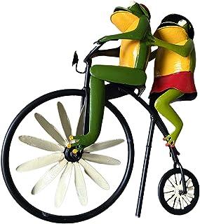 Fenteer Vintage Bisiklet Rüzgar Metal Kazık Kurbağa Bisiklet Rüzgar Değirmeni Bahçe Avlu Dekor Rüzgar Heykel Süs