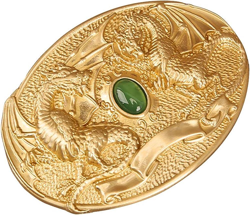 MAKEN Real Jade Dragon Decorative Buckle Accessories Many popular brands Copper Belt Regular discount