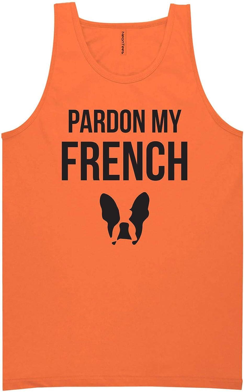 zerogravitee Pardon My French Neon Orange Tank Top - XX-Large