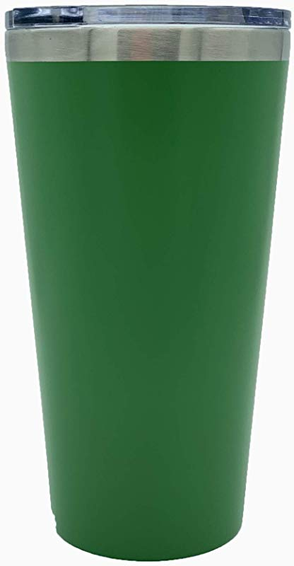 16oz Double Insulated Stainless Steel Tumbler W Lid Kelly Green