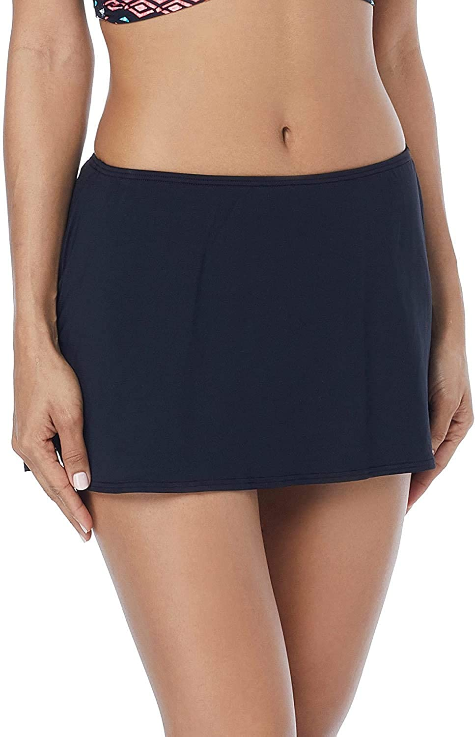Coco Reef Skirted Swim Bottom — Flared Hem Swimsuit Skirt with Attached Bottoms