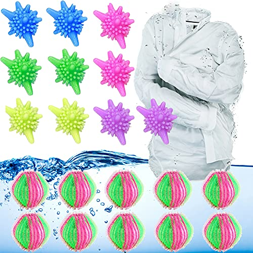 Bola de Lavandería, Limpiar la Bola, Bola de Secadora Para Lavadora, Bola de Limpieza Reutilizable, Bola de Limpieza Que Puede Eliminar Eficazmente Las Pelusas y el Pelo de la Ropa de la Lavadora