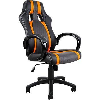 eMarkooz (TM) Fauteuil de bureau pivotant filet en maille avec rembourrage ergonomique noir chaise de bureau d'ordinateur à hauteur réglable