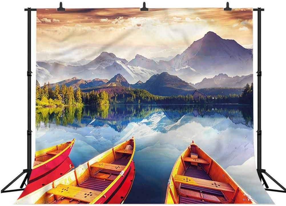 8x8FT Vinyl Photo Backdrops,Landscape,Autumn Forest Silhouette Photoshoot Props Photo Background Studio Prop