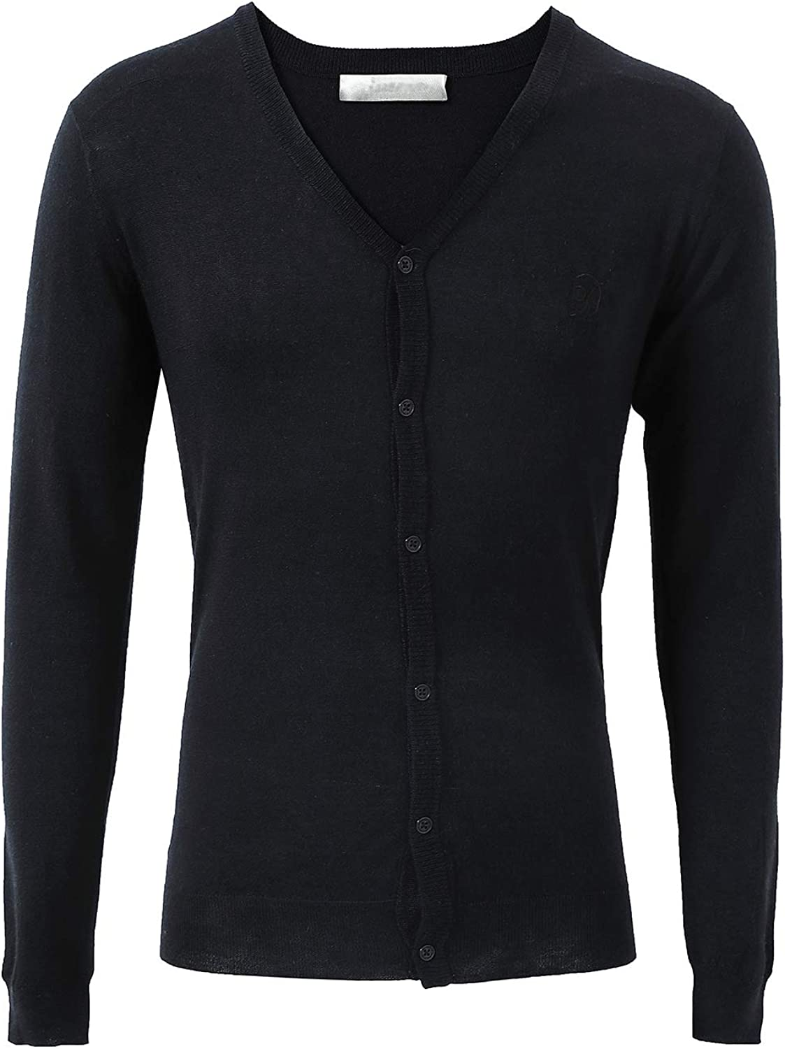 Escalier Men's Casual Slim Fit Lightweight Cardigan Sweater V-Neck Long Sleeve Button-Down Basic Sweaters