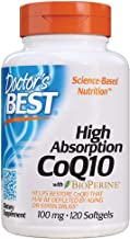 Doctor's Best High Absorption CoQ10 with BioPerine, Gluten Free, Naturally Fermented, Heart Health, Energy Production,100 ...