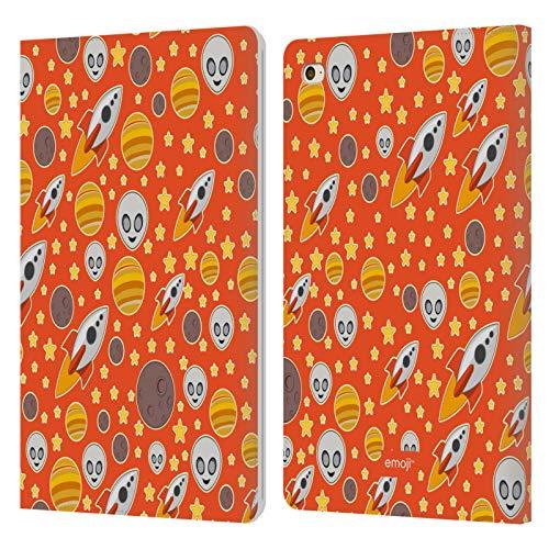 Head Case Designs Oficial Emoji Cohetes Patrones 5 Carcasa de Cuero Tipo Libro Compatible con Apple iPad Mini 4