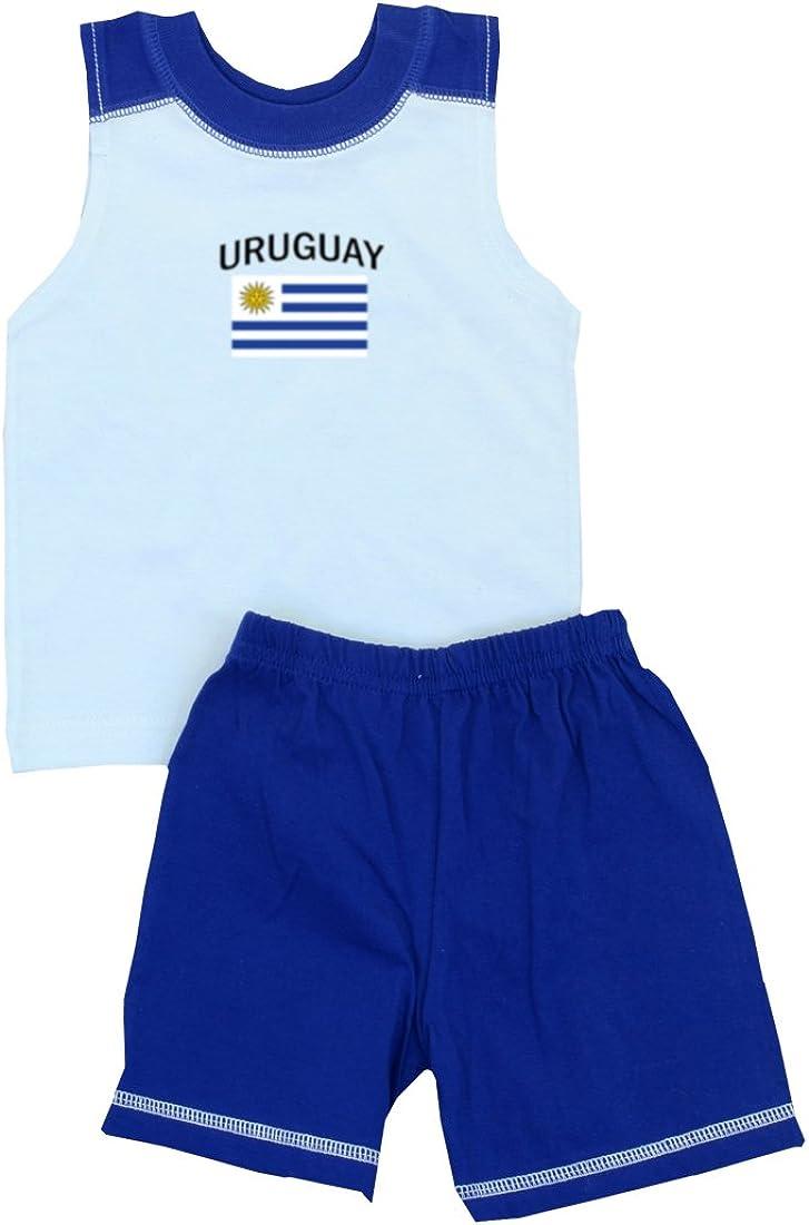 Pam GM Little Boys Uruguay Soccer Set - Short Sleeve T Shirt & Shorts