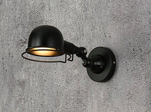 Mur escamotable pliable Industrie Vintage Light Lampe de lecture mécanique Eye Light Table,black,bras court