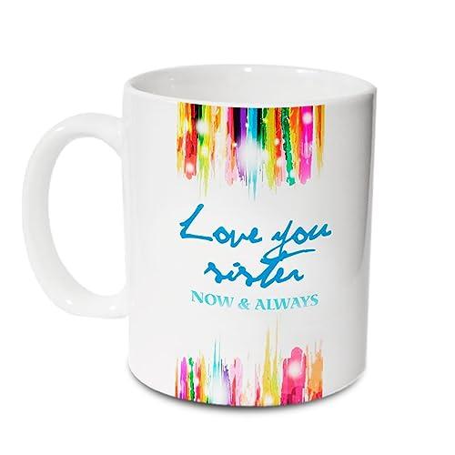 Hot Muggs Love You Sister Ceramic Mug, 315ml