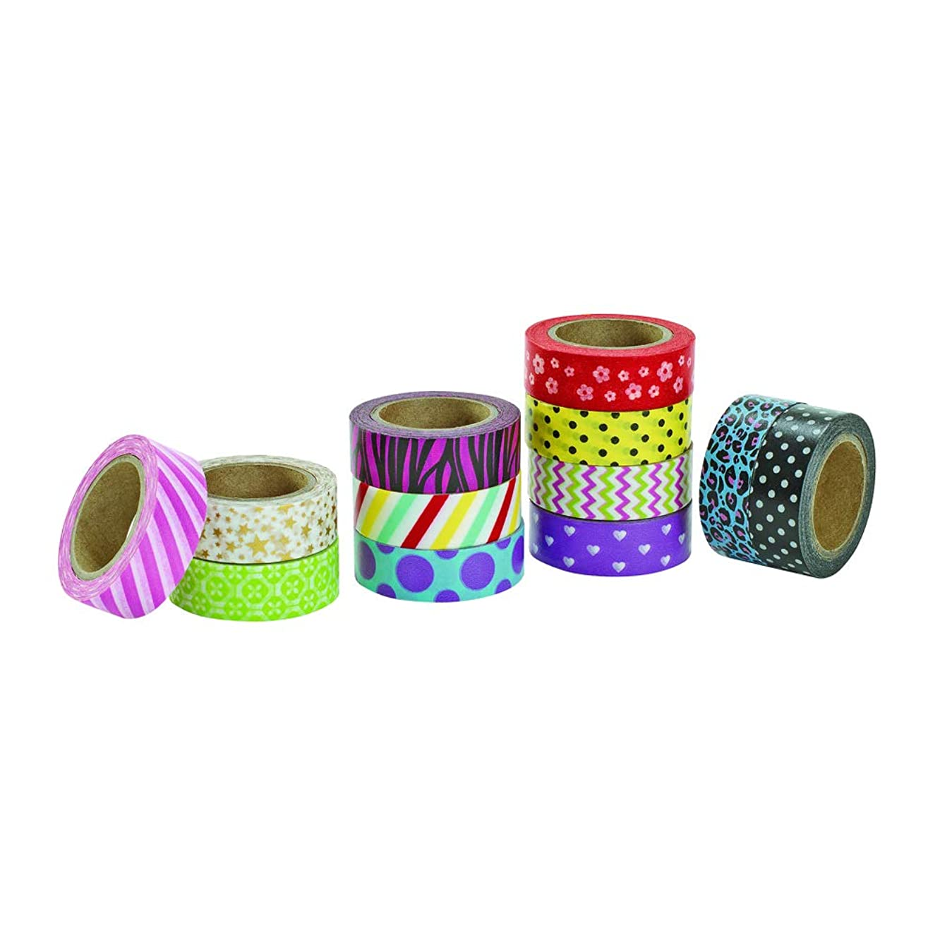 Colorations WASHI Whimsical Printed Craft Tape (Pack of 12)
